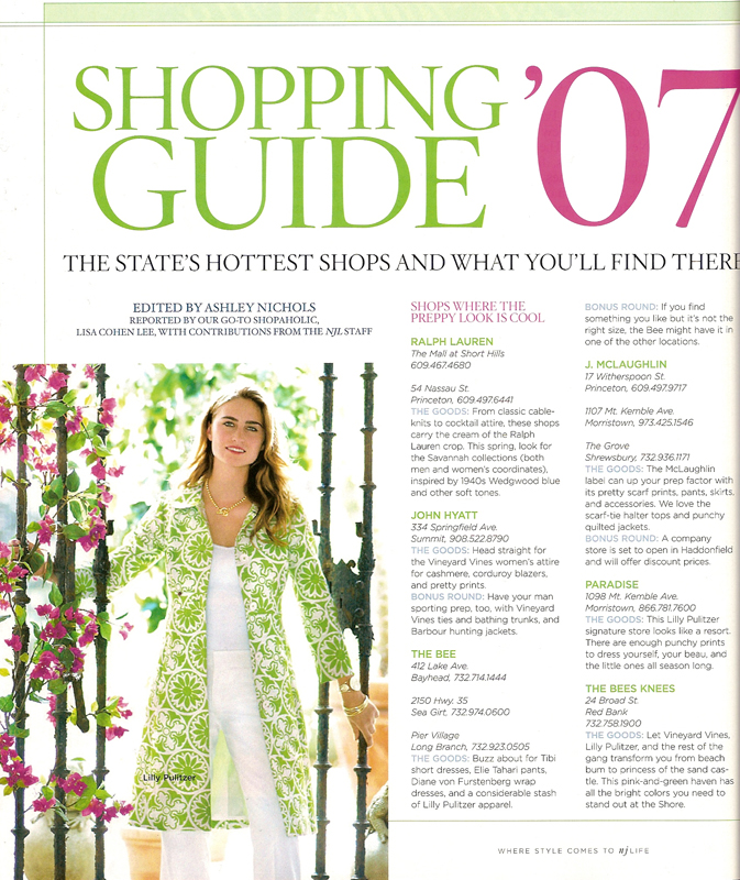 Ambience Selected as the best boutique in New Jersey by New Jersey Life Magazine