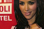 Kim Kardashian in Black Halo