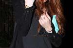 Lindsay Lohan wearing Lauren Moshi