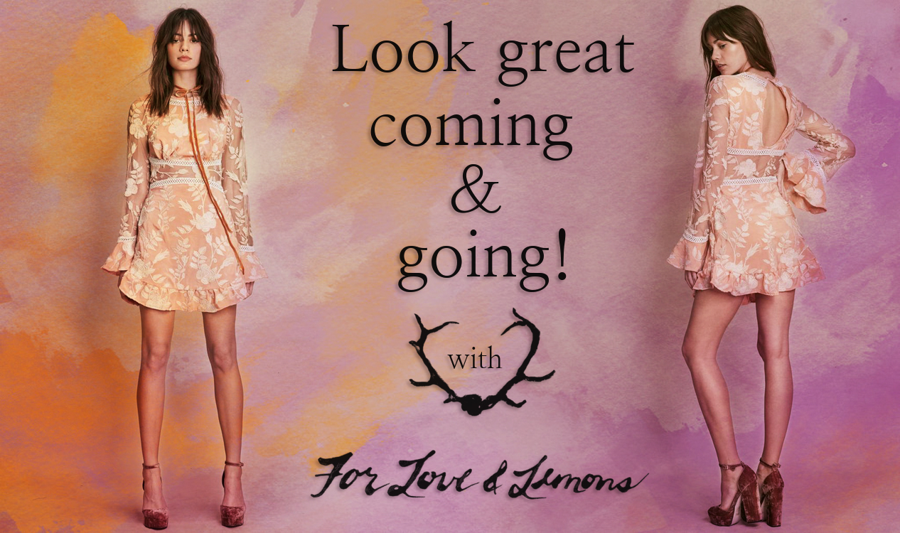 Look great coming and going with the For Love and Lemons Mia Dress!