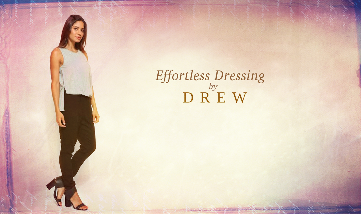 We love how effortless this combo jumpsuit by Drew is. It's got the look of two pieces, with the ease of one.
