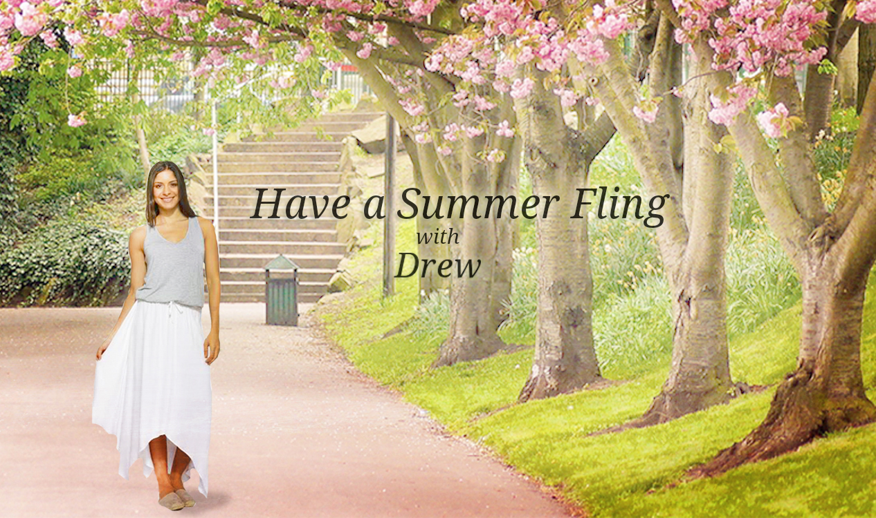 Have a Summer fling with the flowy Danny Hanky dress from Drew!