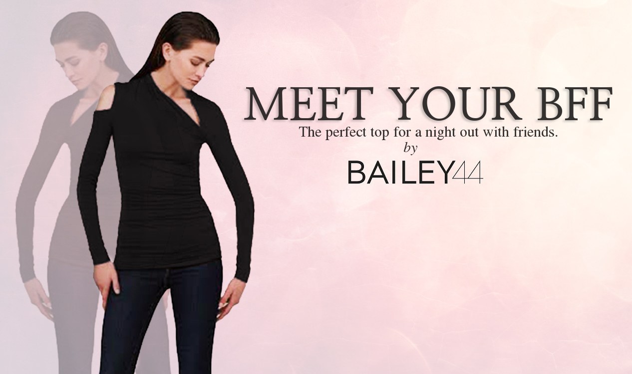 Meet your BFF! The Bailey 44 Expressionist top is the perfect piece for a night out with friends.